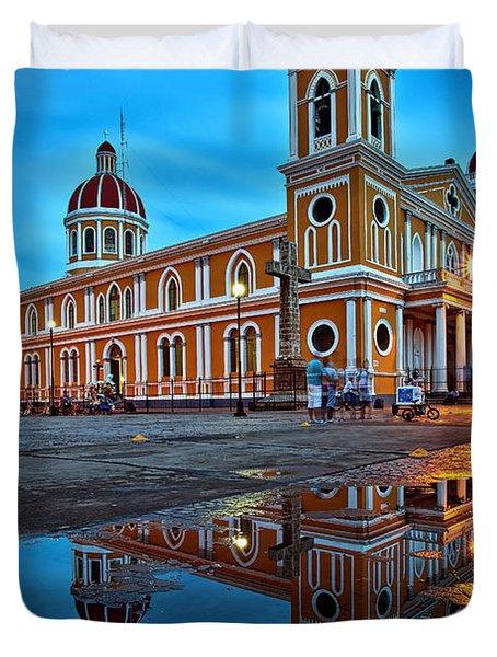 Reflections Of Granada, Nicaragua  Duvet Cover