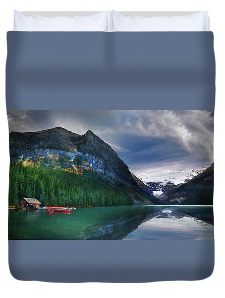 Duvet Cover featuring the photograph Reflections Of by John Poon