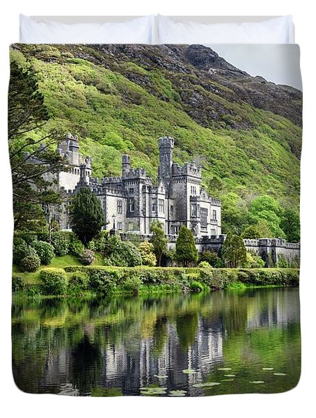 Reflections Of Kylemore Abbey Duvet Cover