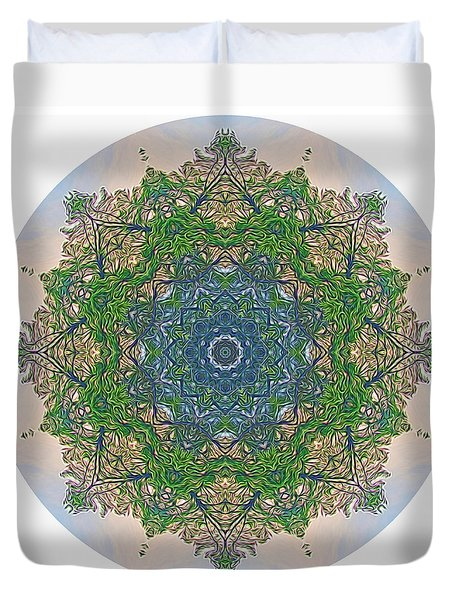 Reflections Of Life Mandala Duvet Cover