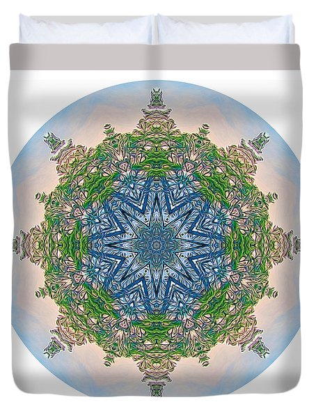 Reflections Of Life Mandala 2 Duvet Cover