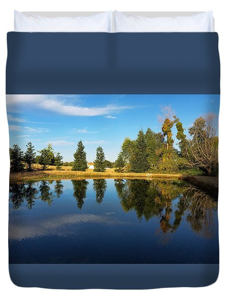 Reflections Of Life Duvet Cover by Pamela Walton