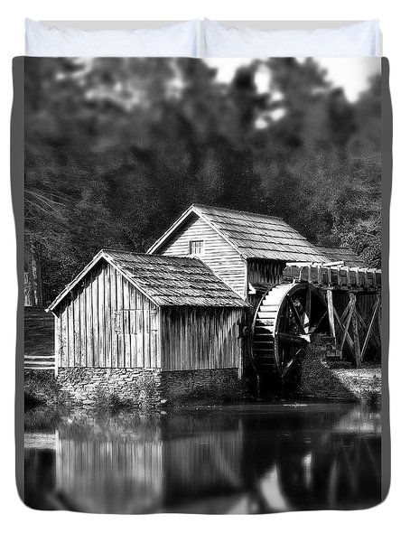 Reflections Of Mabry Mill Duvet Cover