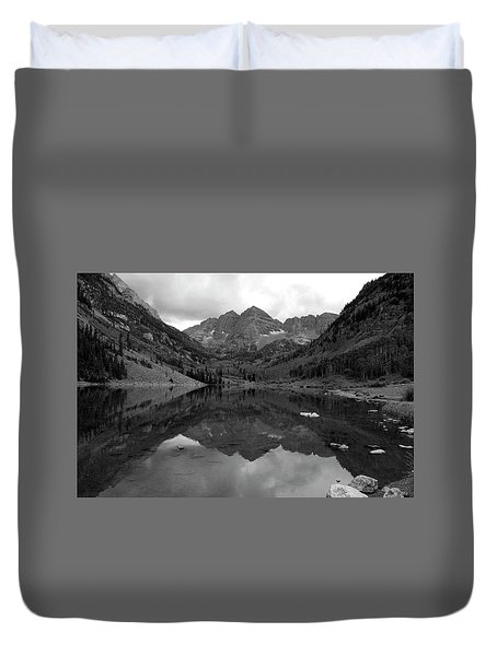 Reflections Of Maroon Bells Duvet Cover