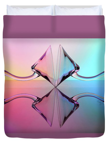 Reflections Of Martini Glasses Duvet Cover