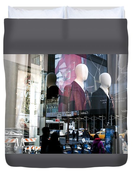 Reflections Of New York Duvet Cover