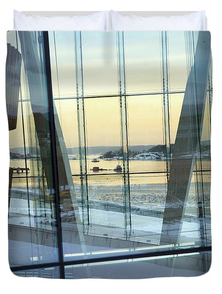 Reflections Of Oslo Duvet Cover
