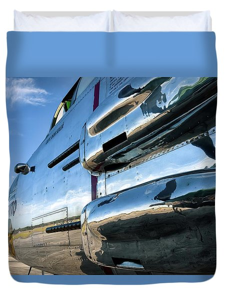 Reflections Of Panchito - 2017 Christopher Buff, Www.aviationbuff.com Duvet Cover