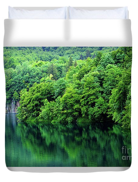Reflections Of Plitvice, Plitvice Lakes National Park, Croatia Duvet Cover