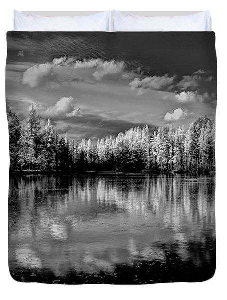 Reflections Of Tamaracks Duvet Cover