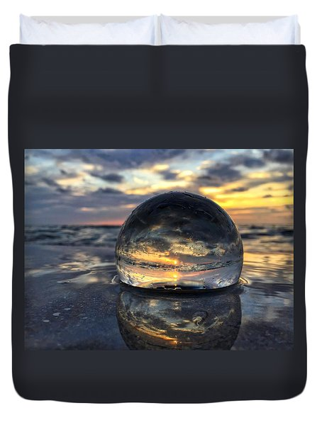 Reflections Of The Crystal Ball Duvet Cover