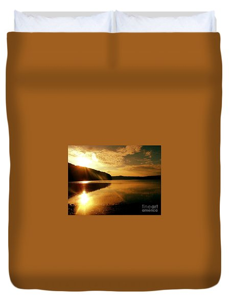 Reflections Of The Day Duvet Cover by Scott D Van Osdol