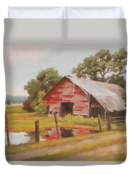 Reflections Of The Past Duvet Cover by Todd Baxter