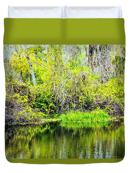 Duvet Cover featuring the photograph Reflections On A Beautiful Day by Madeline Ellis