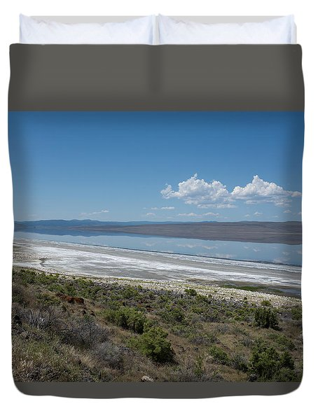 Duvet Cover featuring the photograph Reflections On Abert Lake by Hugh Smith
