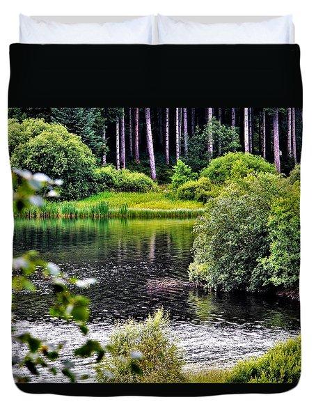 Reflections On Kielder Water Duvet Cover