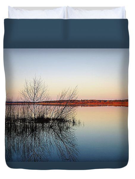 Reflections On Lake Jackson Tallahassee Duvet Cover
