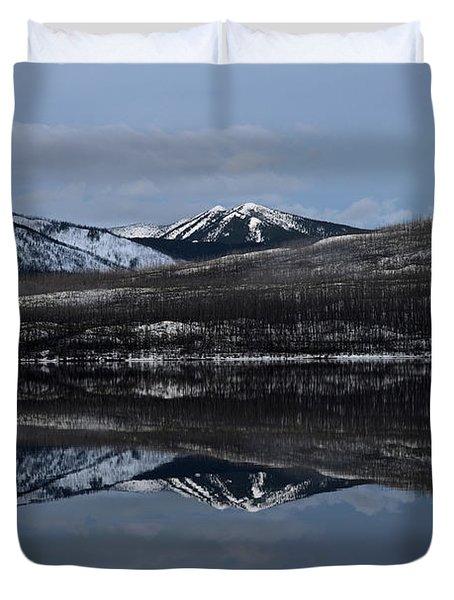 Reflections On Lake Mcdonald 3 Duvet Cover