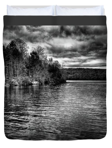 Reflections On Limekiln Lake Duvet Cover by David Patterson
