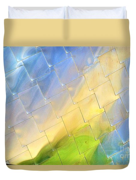 Reflections On Peter B. Lewis Building, Cleveland Duvet Cover