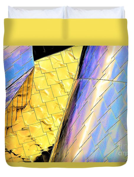 Reflections On Peter B. Lewis Building, Cleveland2 Duvet Cover