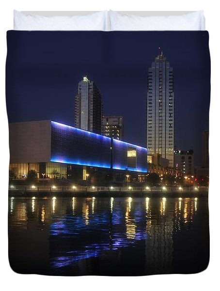 Reflections On Tampa Duvet Cover by David Lee Thompson