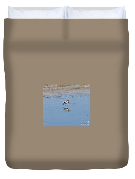 Reflections On The Great Salt Lake Duvet Cover
