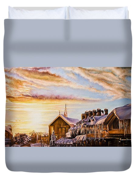 Reflections On The Snow Duvet Cover