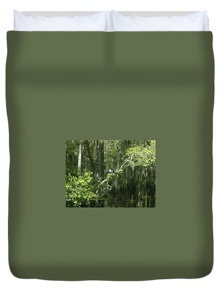 Reflections Upon The Swamp Duvet Cover