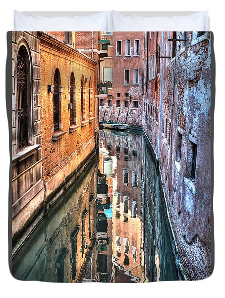 Reflections Venice Italy Duvet Cover