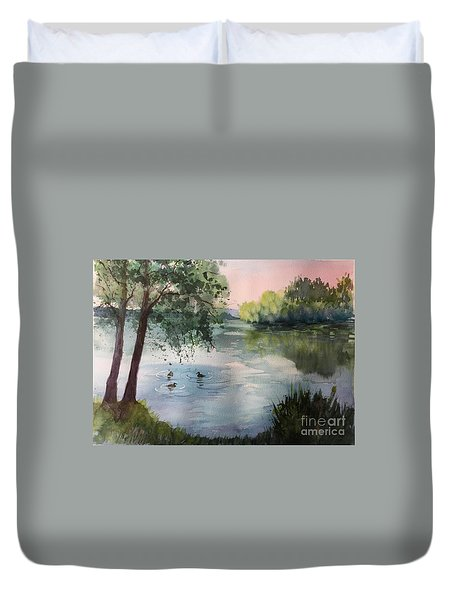 Reflections Duvet Cover by Yohana Knobloch