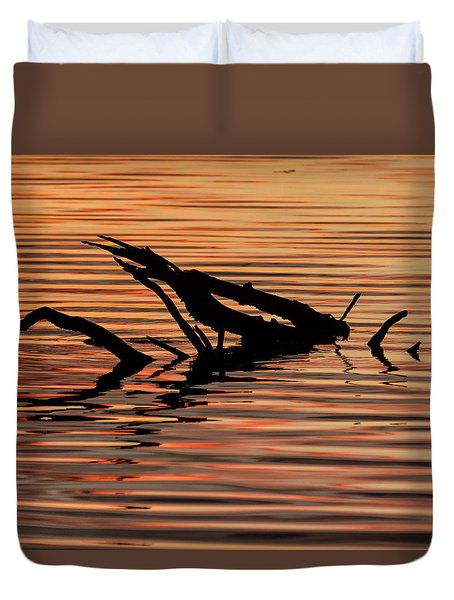 Reflective Abstract Duvet Cover