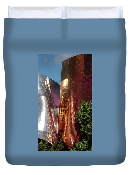 Reflective Buildings Duvet Cover