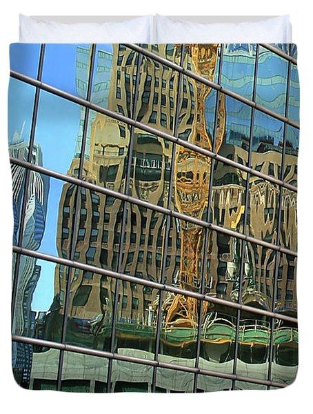 Reflective Chicago Duvet Cover
