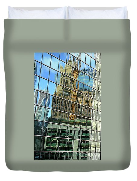 Reflective Chicago Duvet Cover
