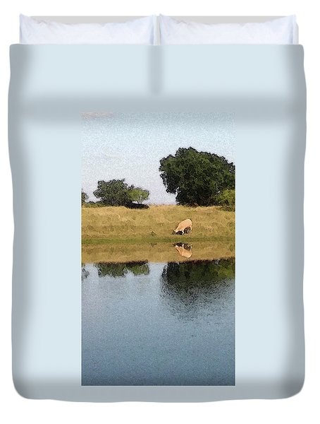 Reflective Cow Duvet Cover