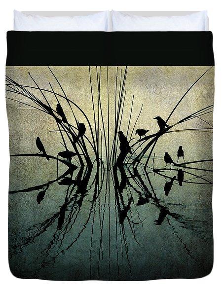 Reflective Grunge Duvet Cover