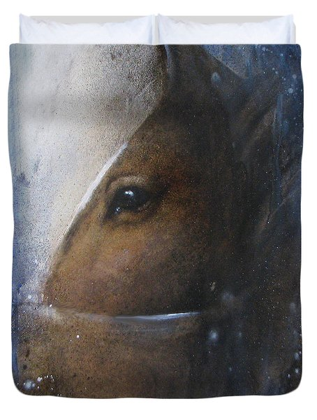 Reflective Horse Duvet Cover