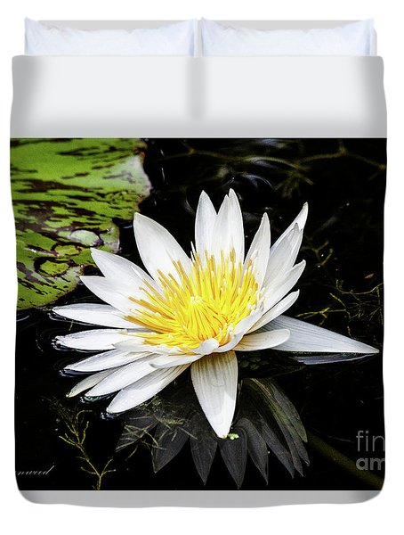Reflective Lily Duvet Cover