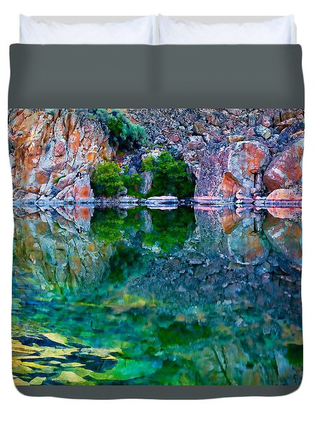 Reflective Pool Duvet Cover