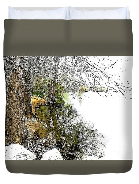 Reflective Trees Duvet Cover