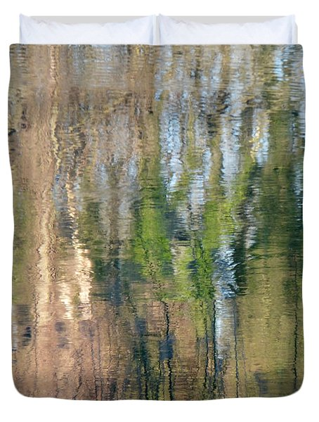 Duvet Cover featuring the photograph Reflet Rhodanien Pastel 1 by Marc Philippe Joly