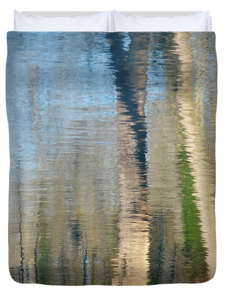 Duvet Cover featuring the photograph Reflet Rhodanien Pastel 2 by Marc Philippe Joly