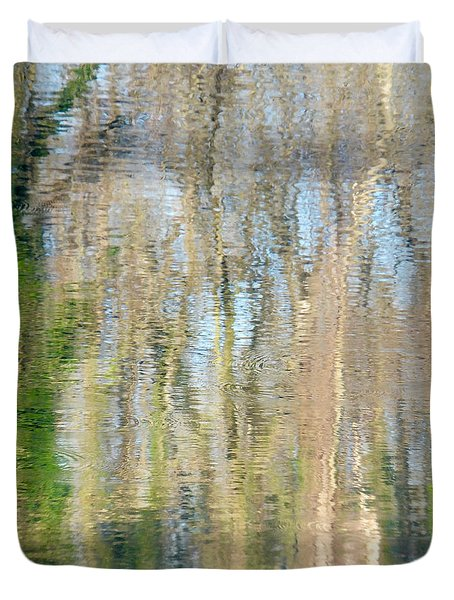 Duvet Cover featuring the photograph Reflet Rhodanien Pastel 3 by Marc Philippe Joly