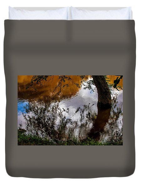 Refraction And Reflection Duvet Cover
