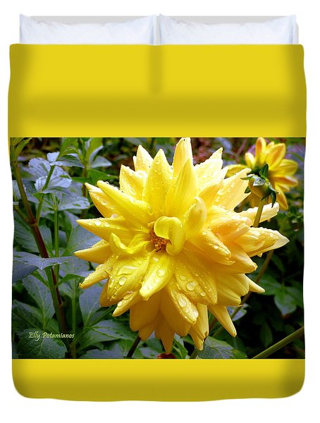 Refreshed Dahlia  Duvet Cover
