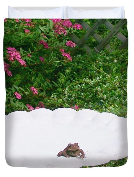 Duvet Cover featuring the digital art Refreshing by Barbara S Nickerson