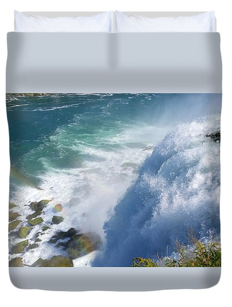 Duvet Cover featuring the photograph Refreshing Niagara Falls by Living Color Photography Lorraine Lynch