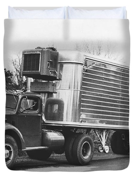 Refrigerated Semi Trailer Duvet Cover