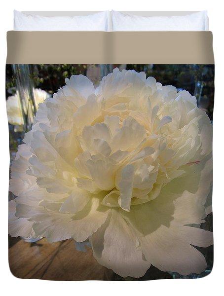 Regal Beauty In White Duvet Cover